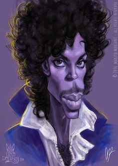 Prince - (I Wish U Heaven) - Caricature by Marzio Mariani (All Rights Reserved) #oddonkey #caricature #celebrities #instacool