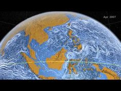 NASA | Perpetual Ocean: this animation of ocean surface currents is mesmerizing. It shows ocean currents from June 2005 to December 2007, created with data from NASA satellites. In the video you can see how bigger currents like the Gulf Stream in the Atlantic Ocean and the Kuroshio in the Pacific carry warm waters across thousands of kilometers at speeds greater than six kilometers per hour 4 mph), as well as seeing how thousands of other ocean create slow-moving, circular pools called…