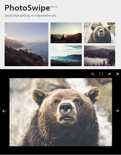 PhotoSwipe: Image Gallery Plugin for Mobile and Desktop Devices #imagegallery #lightbox #uidesign #uxdesign #plugin