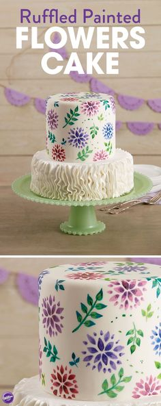 Have your cake and paint it, too! Add beautiful hand-painted petals to your next dessert using a trendy and surprising cake painting technique. This cake is perfect for any special occasion or celebration like wedding shower, anniversary, or even Mother's Day!