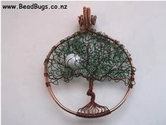 A Curly Leaf Tree of Life Pendant Tutorial to Try! ~ The Beading Gem's Journal - It is easy enough for beginners to try.