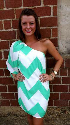 one shoulder dress chevron « Bella Forte Glass Studio