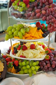 Lovely Fruit and Cheese Presentation Idea. This is for inspiration only, but it would be a great way to serve the fruit and cheeses!