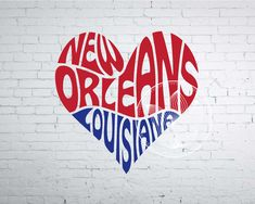 Excited to share the latest addition to my #etsy shop: Digital New Orleans LA Word Art, New Orleans LA jpg, png, eps, svg, dxf, Logo design, Word in heart shape, New Orleans Louisiana wall decor http://etsy.me/2toZpjk #supplies #red #kidscrafts #blue #neworleanslajpg #