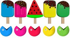 Learn Colors with Pacman Ice Cream for Children Toddlers  Learn Colours for Kids with Ice Cream