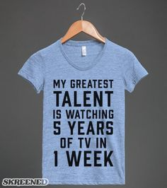 My Greatest Talent Is Watching 5 Years Worth Of TV In 1 Week | Tank Top