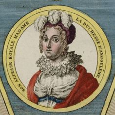 Detail of a Bourbon Restoration engraving of the Royal Family, showing Marie-Therese-Charlotte de France, duchesse d'Angouleme (1778-1851), circa 1815