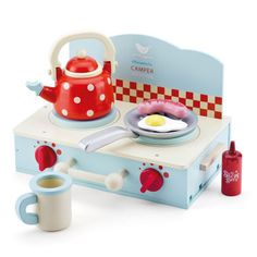 Toy Camping Stove - it's not quite a kitchen but if you were camping then it would be :-)