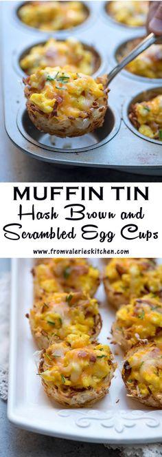 Egg Recipes, Brunch Recipes, Breakfast Recipes, Cooking Recipes, Breakfast Ideas, Hash Brown Recipes, Muffin Tin Recipes, Breakfast Hash, Gourmet