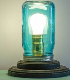 Idea Market Mason Jar Lamp ...Great idea and this can also be made from items that you already have around your house instead of buying all the stuff!