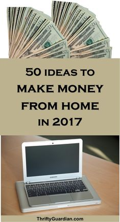 Make money from home in 2017! 50 ideas from Amber Temerity on how to make money online and mostly from the comfort of your own home.