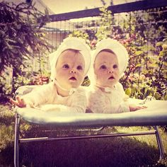 Vintage Twin Baby Girls