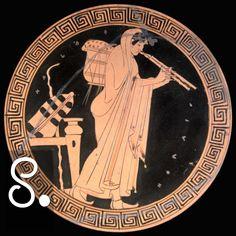 Gli auloi (flauti doppi), contrariamente alla lira, erano difficili da suonare, e quindi rimanevano uno strumento per musicisti professionisti. Come la lira era associata a Apollo, gli auloi erano spesso usati nei culti dionisiaci. I due strumenti prendono così significati contrapposti, esemplificati forse nel modo migliore dalla storia di Apollo e Marsia.
