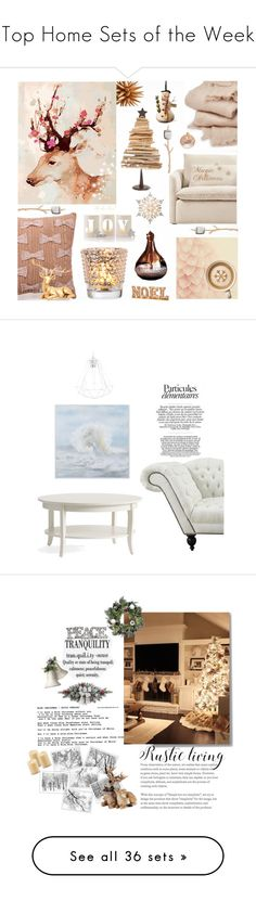 """""""Top Home Sets of the Week"""" by polyvore ❤ liked on Polyvore featuring interior, interiors, interior design, home, home decor, interior decorating, abcDNA, Mark & Graham, GE and National Tree Company"""