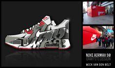 Nike AirMax 90 - Graffiti design by Wick Vd belt, via Behance