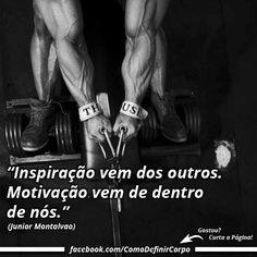Sua motivação deve vir de dentro de você ✌  Que tal aprender algo novo hoje?  Descubra passo a passo como emagrecer! Acesse Aqui ➡ https://SegredoDefinicaoMuscular.com/  #motivação #motivated #motivation #comodefinircorpo
