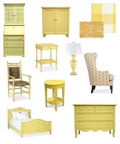 Color Inspiration: Yellow cottage style home decor