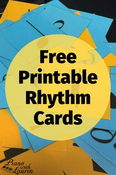 These free printable rhythm cards offer endless possibilities for games in your . Preschool Music Lessons, Music Lesson Plans, Music Activities, Movement Activities, Music Games For Kids, Piano Games, Music Theory Worksheets, Music Education, Physical Education