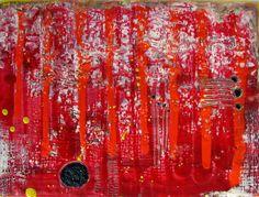 encaustic Abstract, Artwork, Work Of Art, Summary