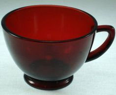 Anchor Hocking Ruby Red Cup $5.99