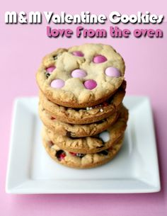 M & M Valentine's Day Cookies