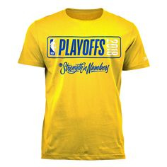 d7924347 Material: 100% cotton Screen-printed graphics 2018 NBA Playoffs 'Strength  In Numbers. Official Online Store of the Golden State Warriors