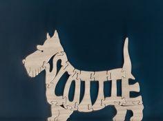 Scottie Pet Wood Puzzle Cut On Scroll Saw by DukesScrollSaw, $7.00