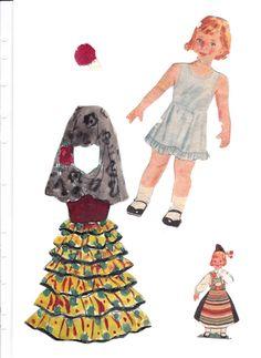 Helga paper doll (made up name) (1 of 4)   Maggans Nostalgiska klippdockor