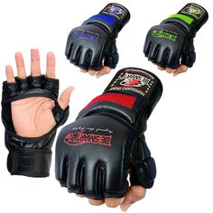Auth. Rex Leather MMA Grappling Gloves Boxing Punch Bag UFC Gel Tech Muay Thai M