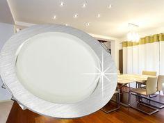 RX-3 Alu LED-Einbauleuchte Einbaustrahler, geringe Einbautiefe, GX53 3,5W SMD Lichtfarbe weiß – Bild 2