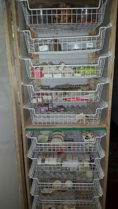 Soap Rack made by Hubby.Stores quite a bit of soap.
