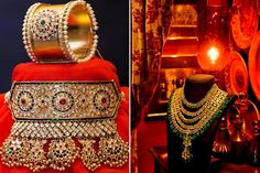 Choker And Raani Haar (A Rajput bride's neck is all the more enhanced by choker studded with precious stones clinging to the neck. Madhuri Dixit, India Jewelry, Gold Jewelry, Gold Necklaces, Jewlery, Mehndi Designs, Rajput Jewellery, Indian Look, Royal Jewels
