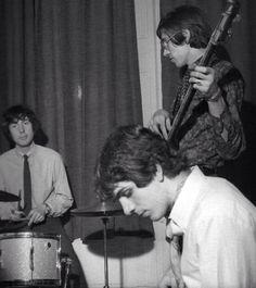 Roger Waters, Syd Barrett, and Nick Mason
