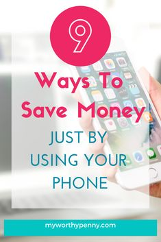 Do you want to save money just by using your phone? This post will give you 9 ways on how to save money using your phone. Ways To Save Money, Money Tips, Money Saving Tips, How To Make Money, Saving Ideas, Earn Money From Home, Earn Money Online, Budgeting Finances, Budgeting Tips