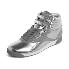 48887ceb2226f Reebok Freestyle HI Internatinal Metallic (silver   white ... Sneaker  Wedges