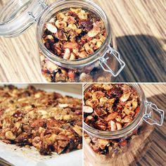 #Mm #granola maison aux saveurs automnales pour le #petitdejeuner ... #Myyaam ! // #noisette #amande #figue #dattes #coco #grainesdelin // #breakfast #muesli #homemade #faitmaison #healhy #healhyfood #eathealthy #miam #yummy #mangersain #nuts Muesli, Granola, Saveur, Eat Healthy, Cereal, Baking, Breakfast, Cake, Food