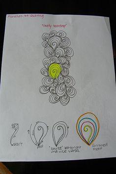 MarveLes Art Studios: Free Motion Design - Swirly Teardrop