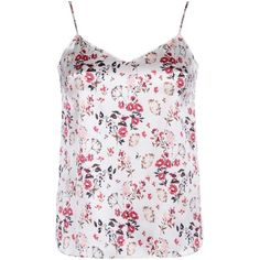 Stella McCartney Ellie Leaping Camisole (195 NZD) ❤ liked on Polyvore featuring intimates, camis, botanical jacquard print, stella mccartney, spaghetti strap cami, floral camisole, v neck camisole and print cami