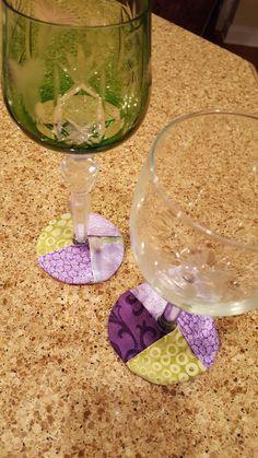 Wine Glass Slipper Coasters