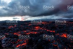 Volcano Tolbachik. Lava fields royalty-free stock photo
