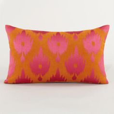 One of my favorite discoveries at WorldMarket.com: Warm Ikat Throw Pillow