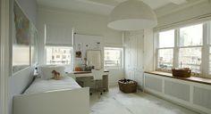 Große Pendelleuchten im Esszimmer – moderne Hängelampen - kinderzimmer weiß gestaltet semi kreis hängelampen