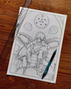 Naruto Sketch Drawing, Naruto Drawings, Anime Drawings Sketches, Anime Sketch, Naruto Tattoo, Anime Tattoos, Naruto Shippuden Anime, Anime Naruto, Arte Yin Yang