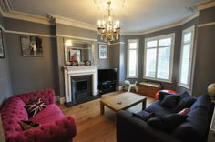 4 bedroom end of terrace house for sale in Burton Road, West Didsbury, Manchester - Rightmove. Sitting Rooms, Lounge Ideas, Fireplaces, Interior Architecture, Property For Sale, Sweet Home, Reception, Victorian, Windows
