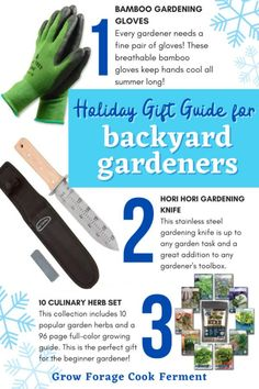 This holiday gift guide for backyard gardeners will give you all kinds of ideas for your small space gardening and permaculture friends. Find ideas for small gardening tools (great stocking stuffers!), seed starting kits, books, and more. Youll find the perfect holiday or Christmas gift for the gardener in your life.