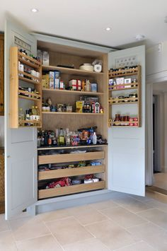 Property Renovation : Storage by Hartley Quinn WIlson Limited Kitchen Interior, Room Interior, Interior Design Living Room, Kitchen Design, Stand Alone Pantry, Clever Kitchen Storage, Small Space Interior Design, Diy Kitchen Remodel, Home Deco