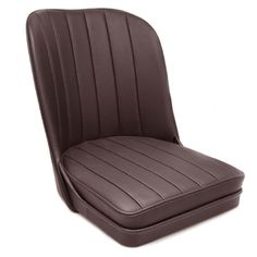 Vintage Style Sports Bucket Seat - Coloured Leather