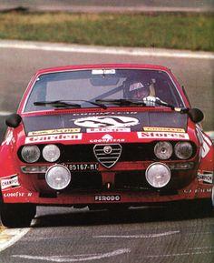 Spartaco Dini & Jean-Claude Andruet ( Alfetta 2000) 2ème des 24 Heures de Spa Francorchamps - L'Automobile septembre 1976.