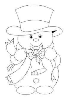 Christmas Coloring Pages - Snowmansnowman-embroidery pattern-best one yet Maiskeep for xmas ornaments pattern from wood for JeanRisultato immagini per riscos patch apliqueSnowman and Top Hat Christmas Images, Christmas Colors, Christmas Art, Christmas Projects, Christmas Decorations, Christmas Ornaments, Christmas Patterns, Christmas Holidays, Colouring Pages