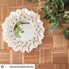 Macrame Mirror, Macrame Curtain, Macrame Cord, Macrame Knots, Macramé Art, Crochet Dreamcatcher, Sashiko Embroidery, Dyi, Diy Clock